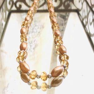 Beaded necklace costume jewelry